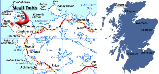 Map to Meall Dubh